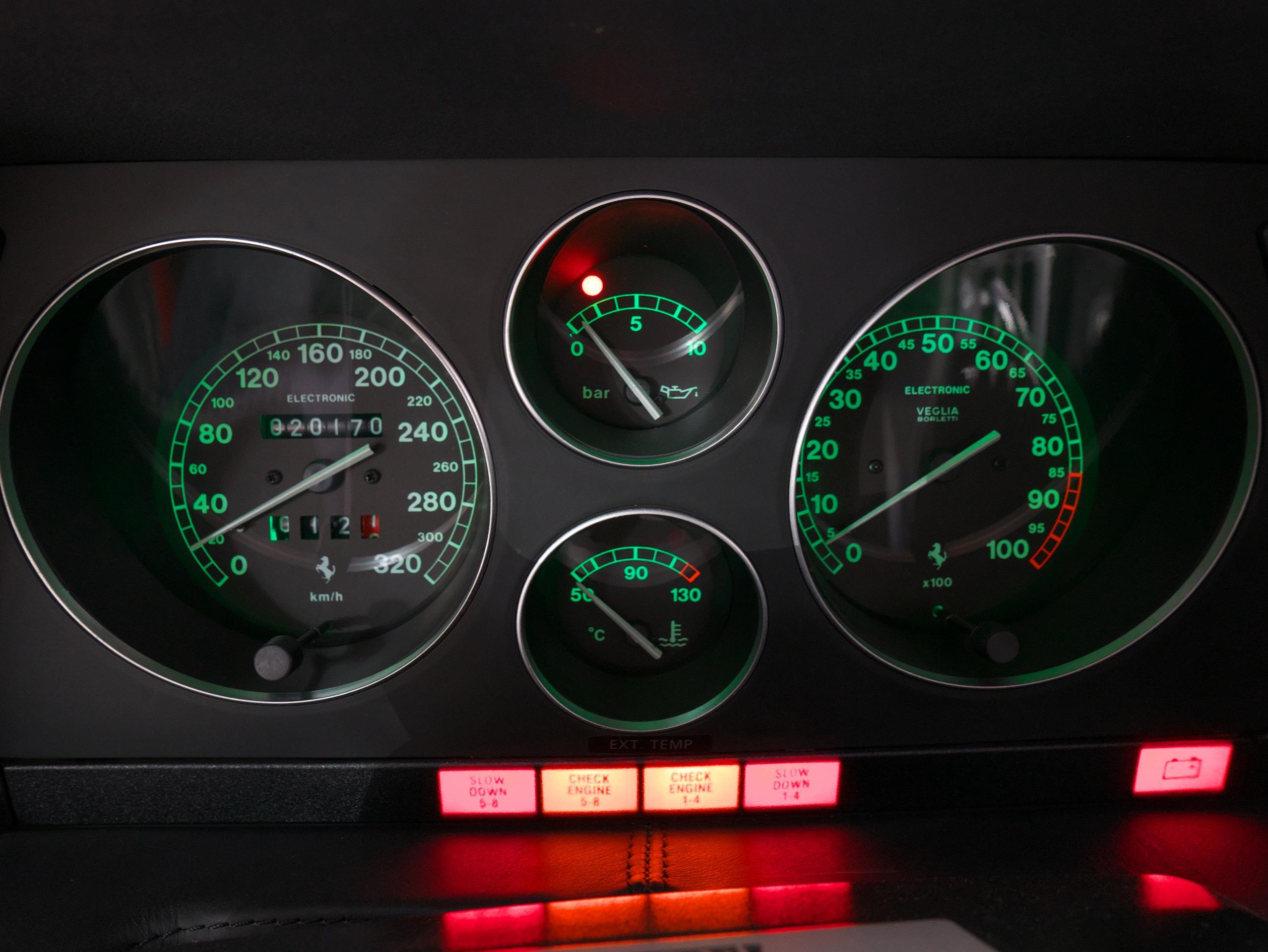 フェラーリ F355 ベルリネッタ メーターパネル