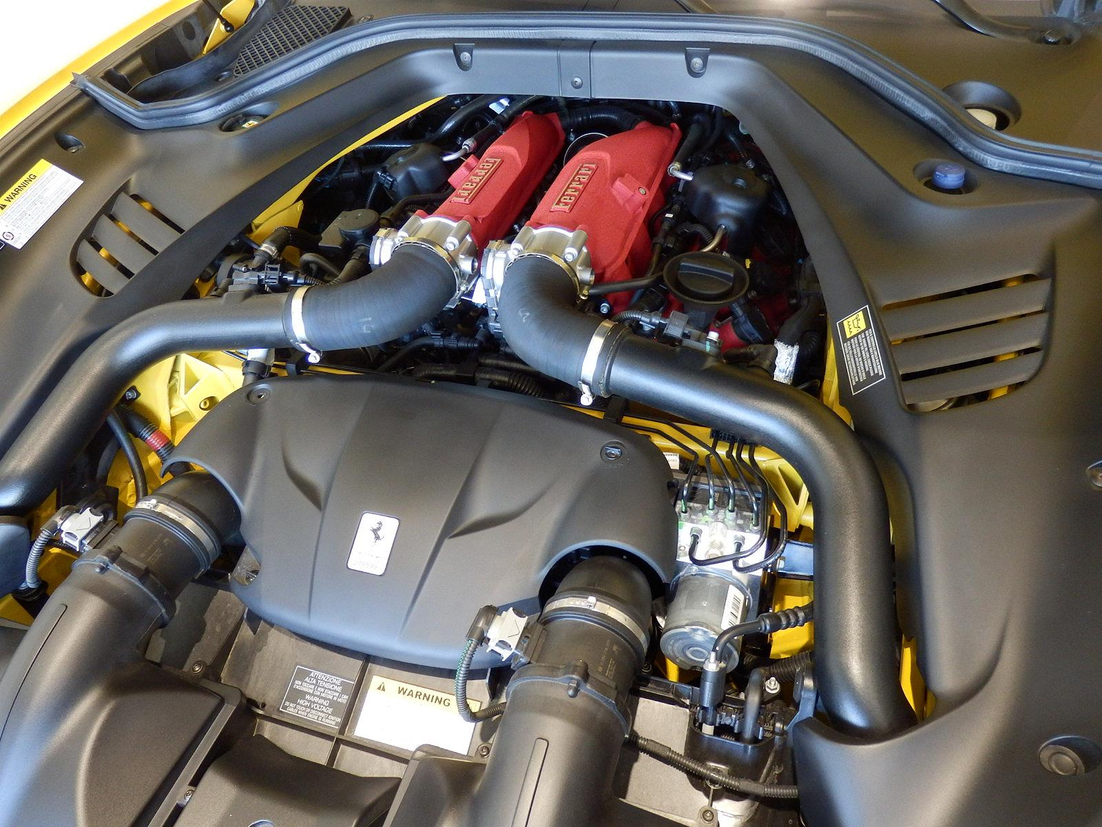 フェラーリ カリフォルニア T エンジン