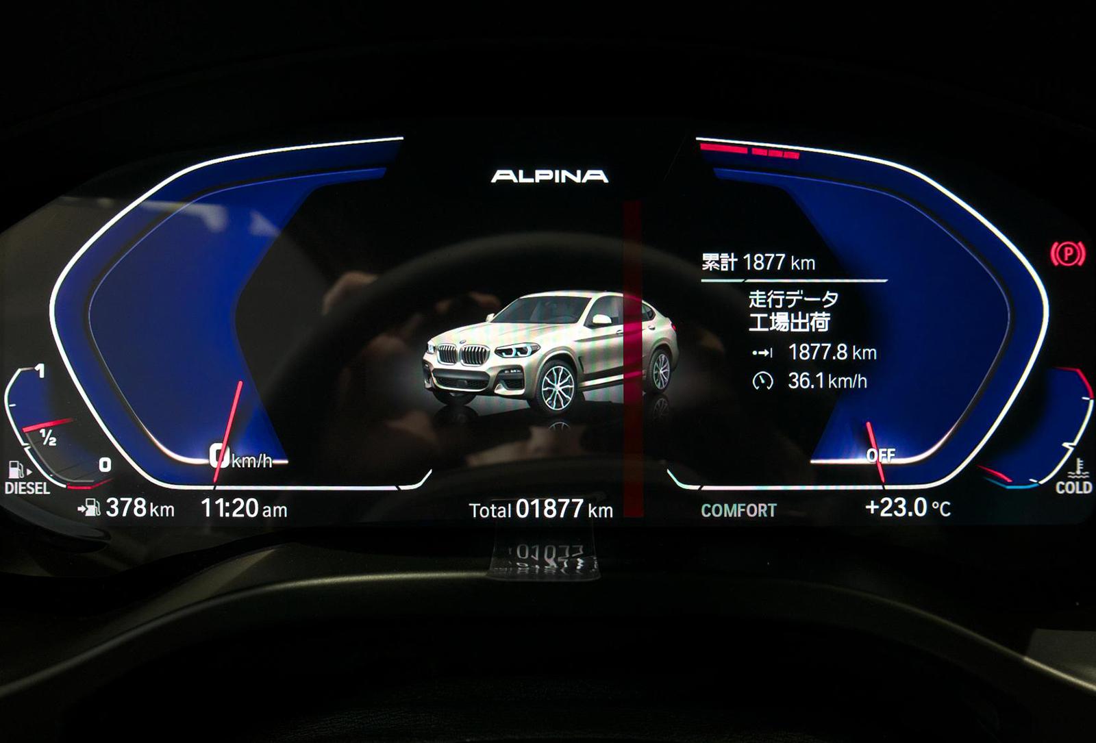BMW アルピナ XD4 Allrad メーターパネル