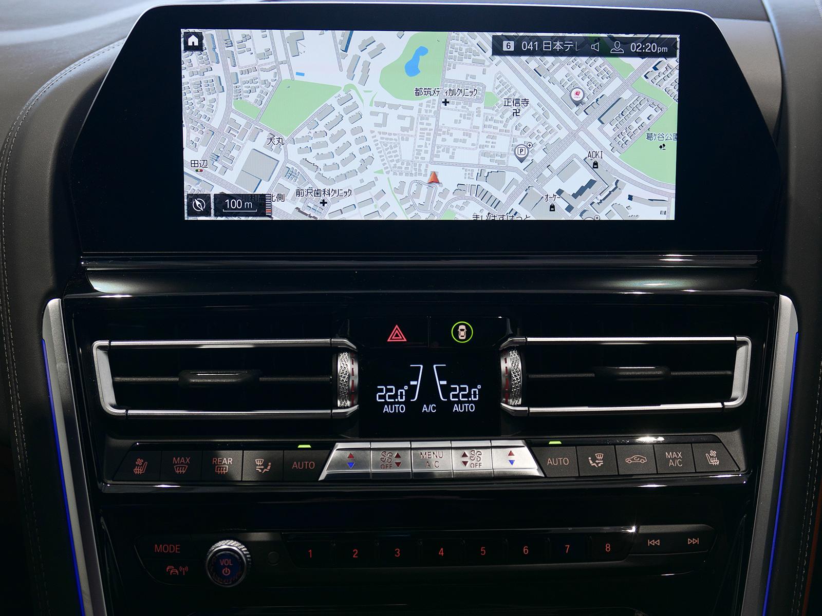 BMW M850i xDrive クーペ ナビゲーションシステム