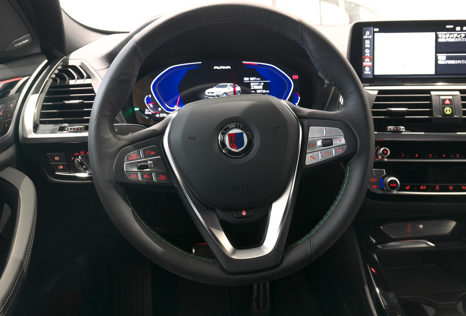 BMW アルピナ XD4 Allrad ステアリング
