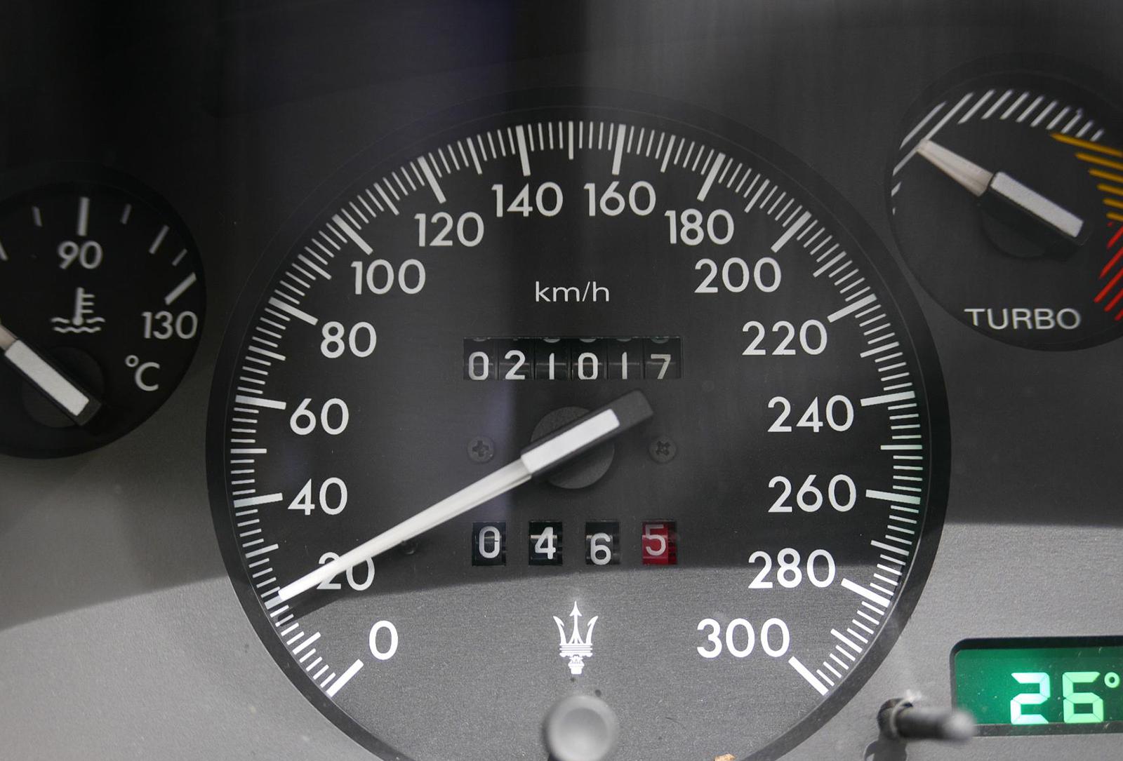 マセラティ ギブリカップ スピードメーター