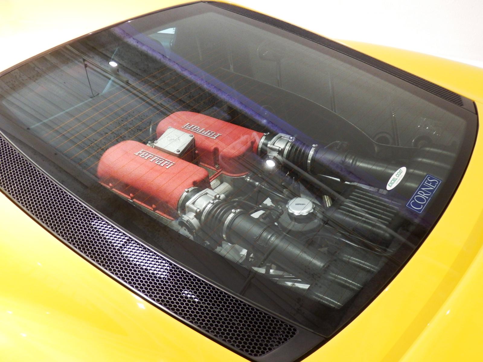 360 モデナ ガラスエンジンフード