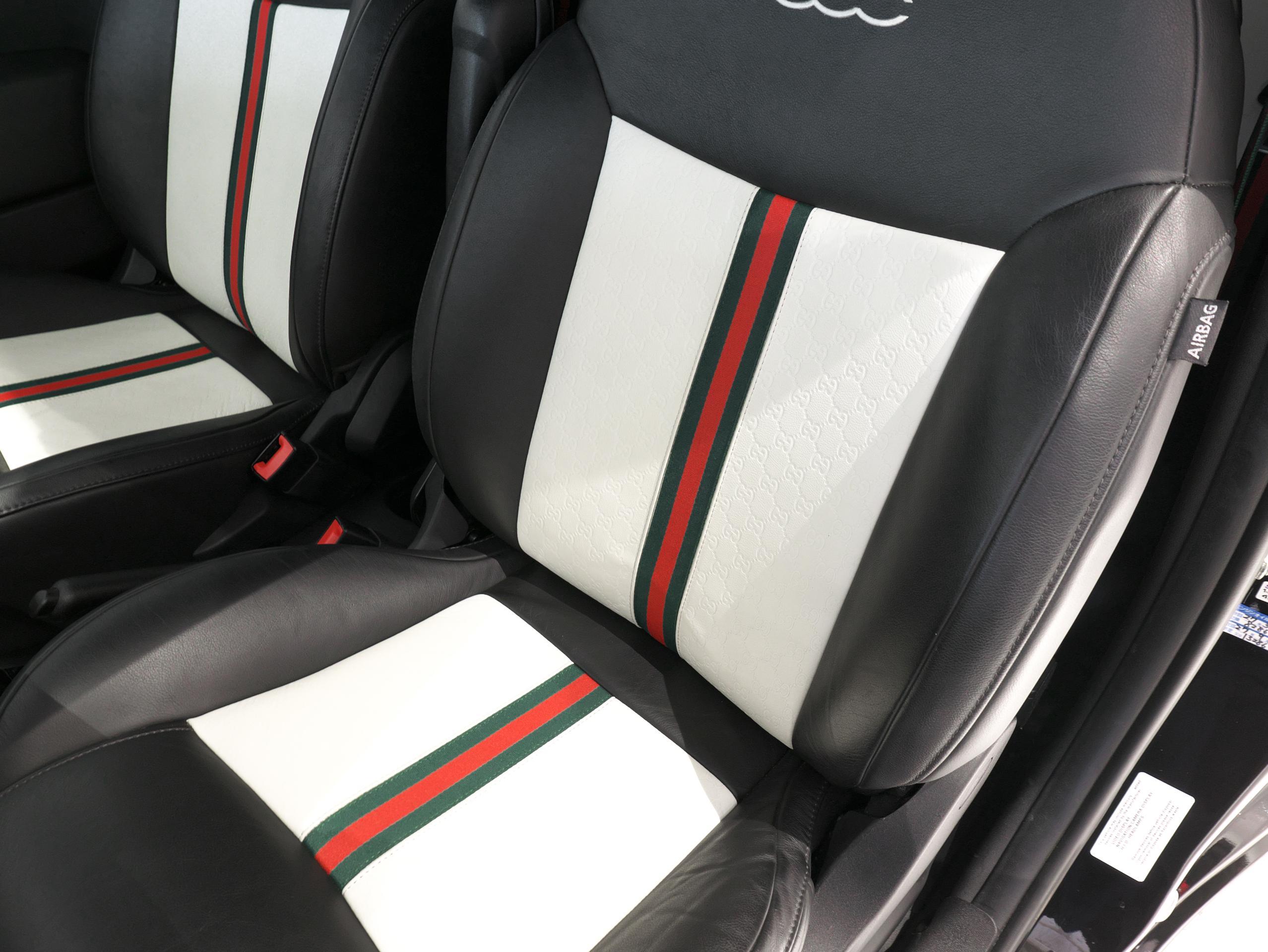 フィアット 500C バイグッチ 運転席シート Gucci柄